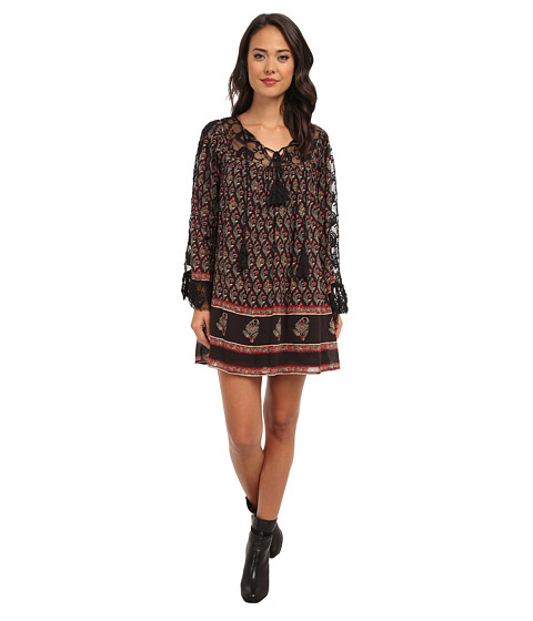 Free People - Nomad Child Dress (Black Combo) Women's Dress