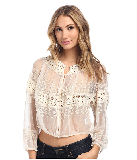 Free People - Victorian Top (Tea) Women's Clothing
