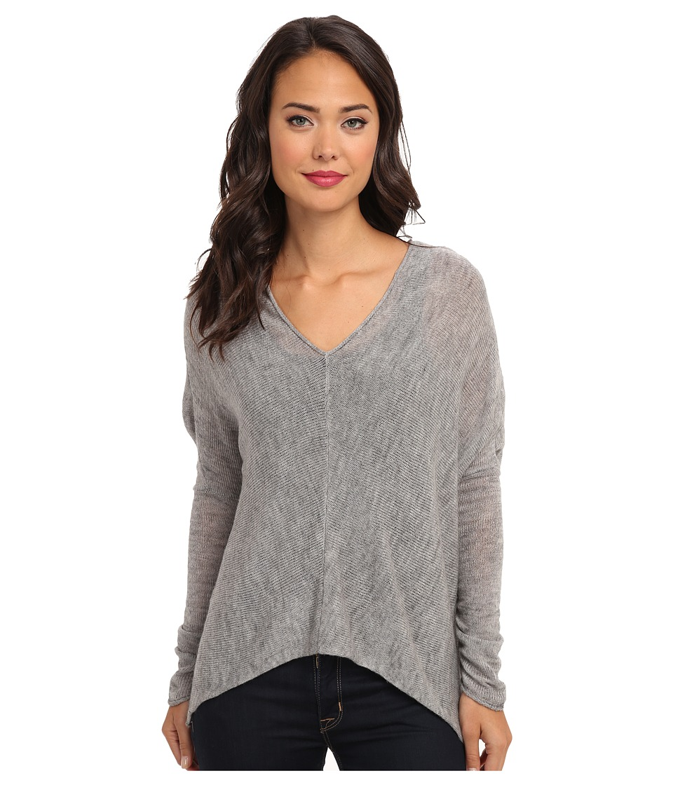 Free People - Sadie V Pullover Sweater (Heather Grey) Women