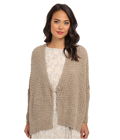 Free People - Breeze Cardi Sweater (Teak) Women