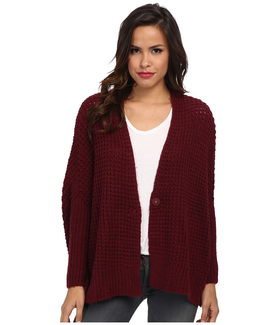 Free People - Breeze Cardi Sweater (Rich Berry) Women's Sweater