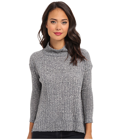 Free People - Hacci Clarissas (Navy/Cream Marl) Women's Long Sleeve Pullover