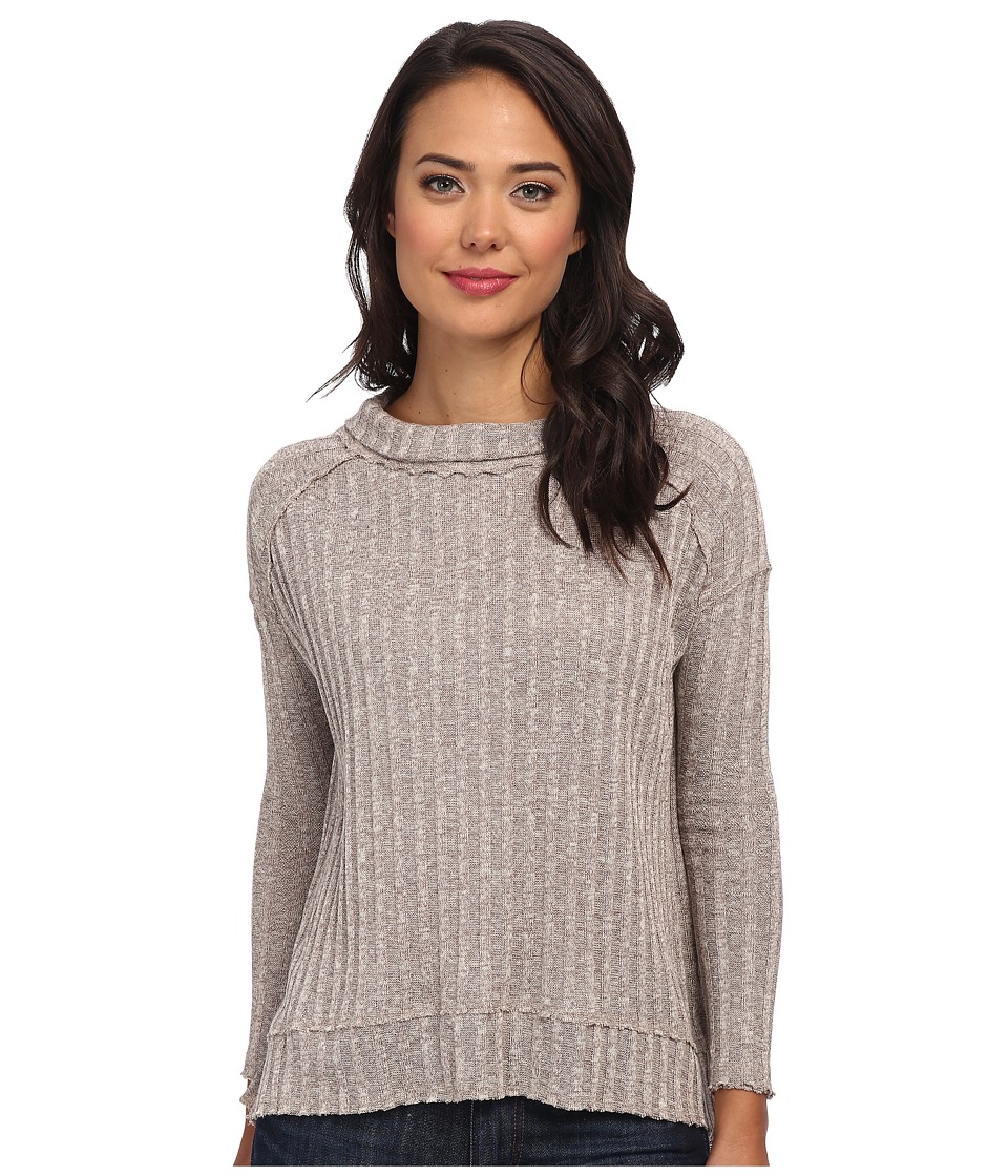 Free People - Hacci Clarissas (Taupe/Tea Marl) Women's Long Sleeve Pullover