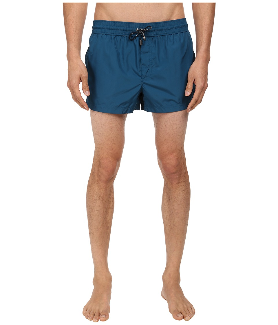 Dolce & Gabbana - Solid Short Swim Trunk (Very Dark Blue) Men's Swimwear
