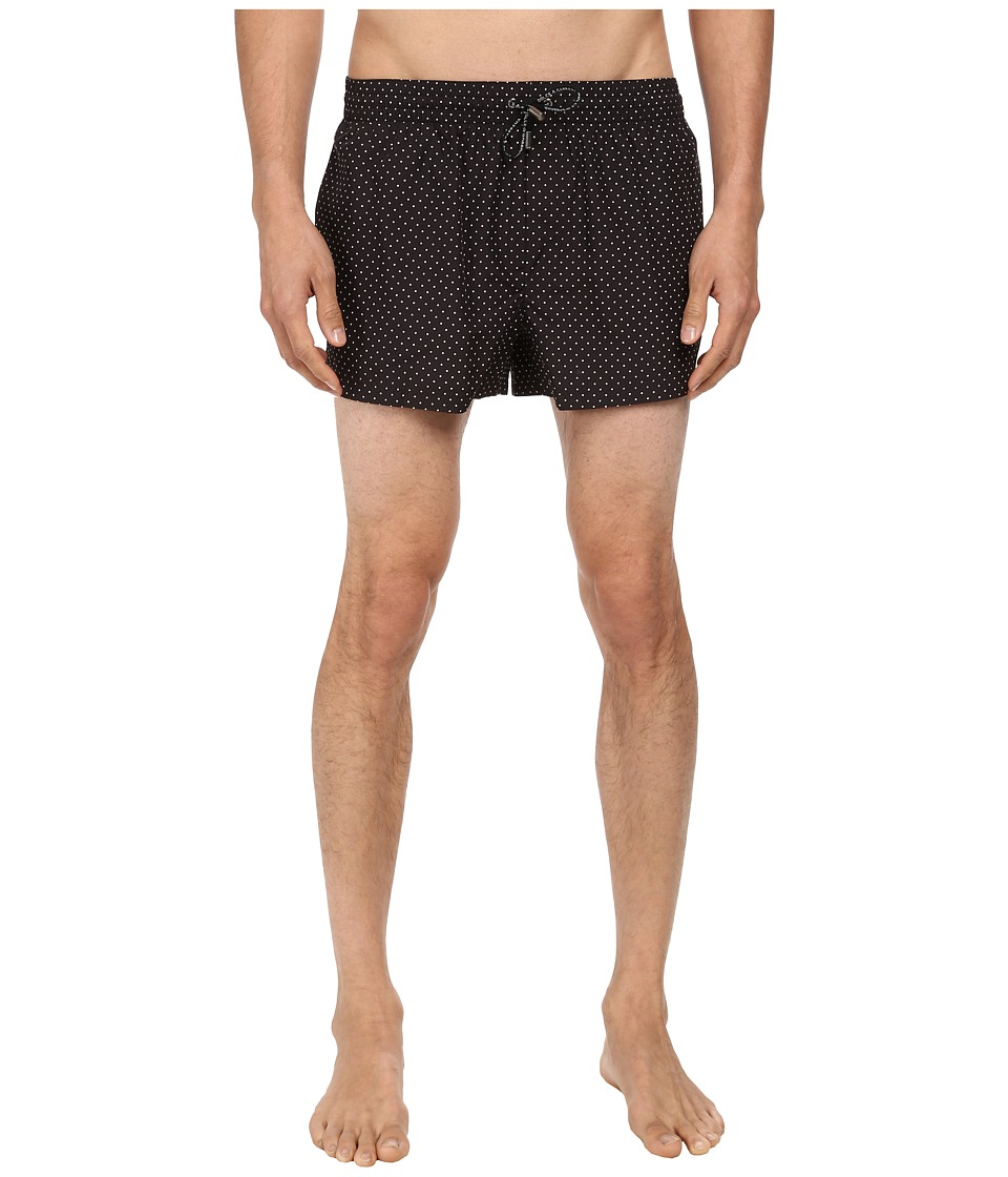 Dolce & Gabbana - Micro Dot Swim Trunk (Anthracite) Men's Swimwear