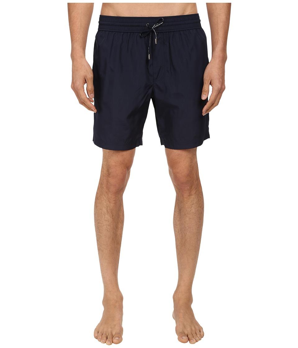 Dolce & Gabbana - Short Length Solid Swim Trunk (Blue) Men's Swimwear