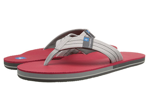 Freewaters - The Dude (Light Grey/Red) Men's Sandals