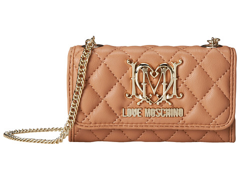 LOVE Moschino - iPhone Mini Crossbody Bag (Beige) Cross Body Handbags