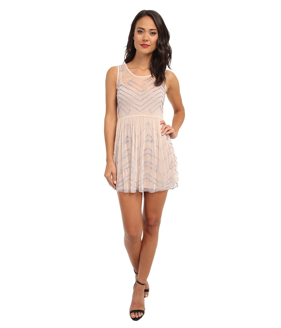 Free People - Embellished Slip (Soft Peach) Women's Clothing