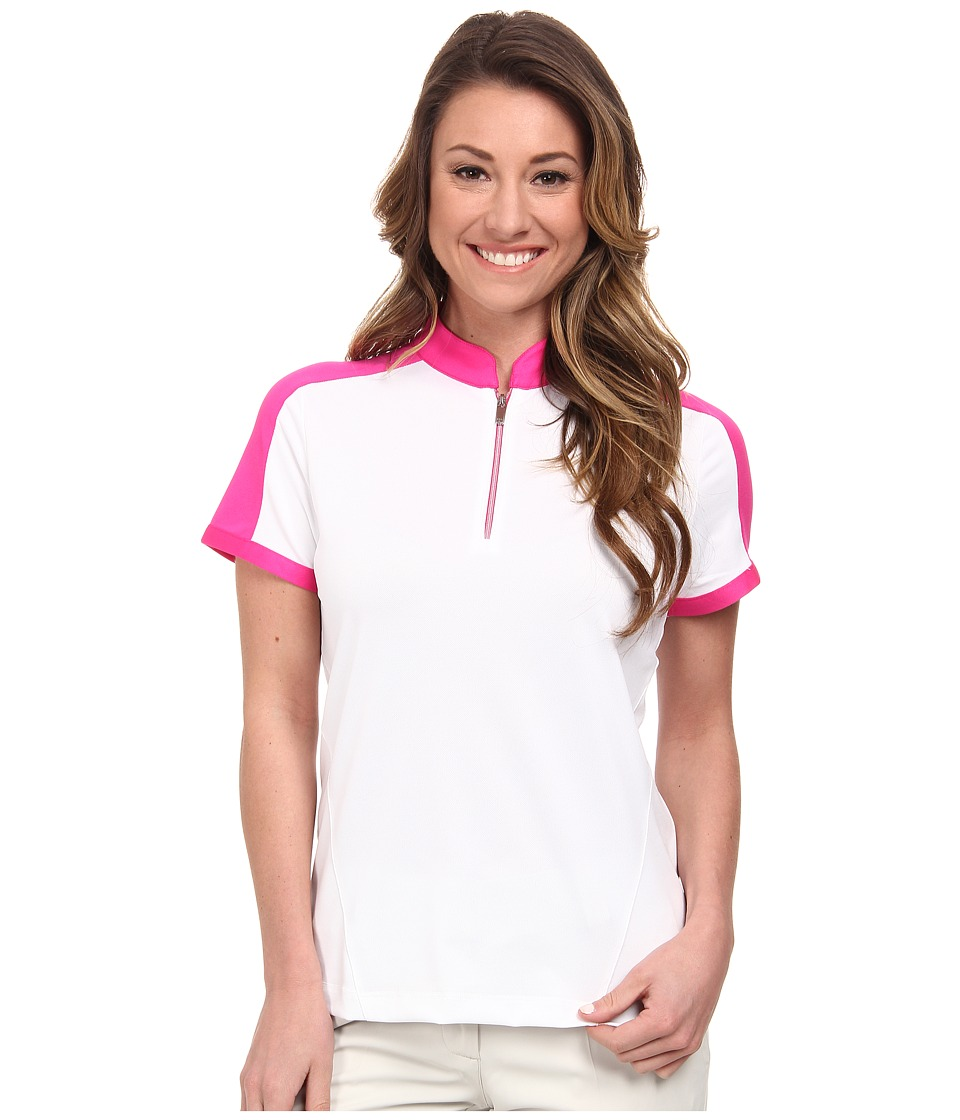Tail Activewear - Parker Performance Pique (White) Women's Short Sleeve Knit