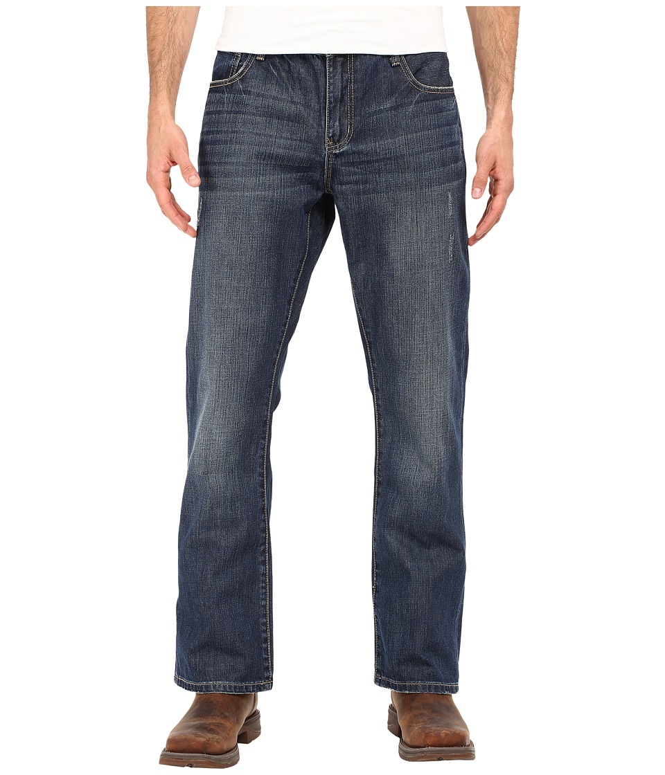 Stetson - Rocker Fit Blast and Grind (Blue) Men's Clothing