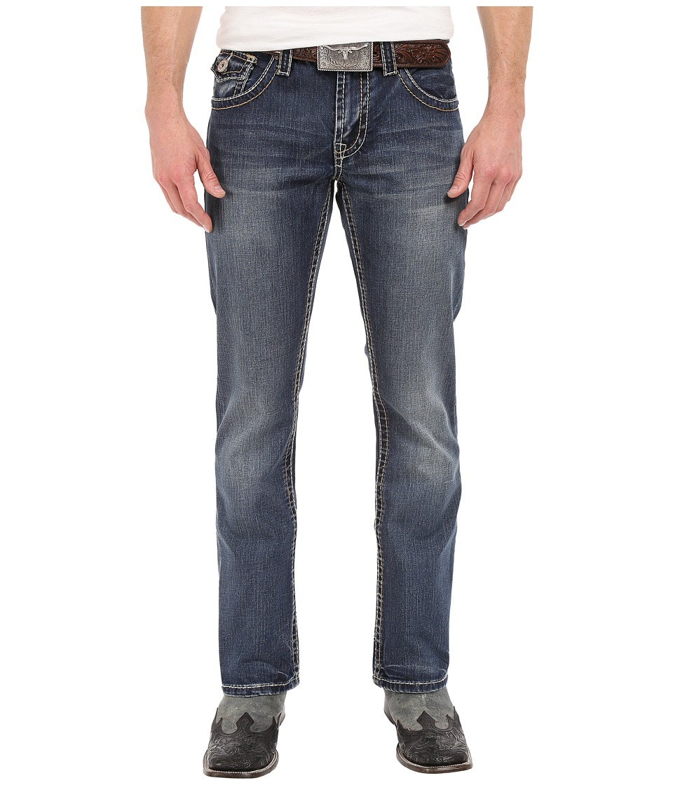 Stetson - Rocker Fit Back Flapped (Blue) Men's Clothing