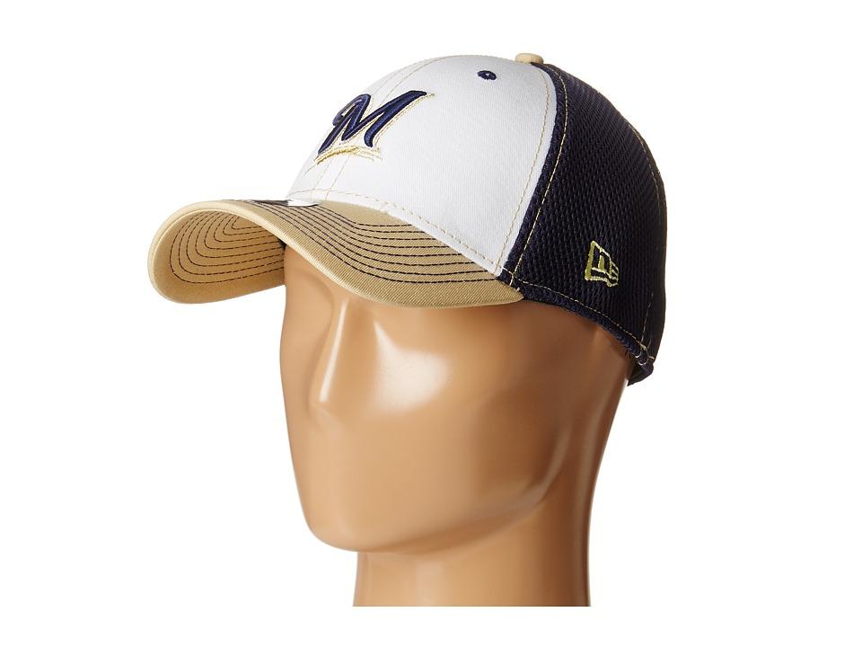 New Era - White Front Neo Milwaukee Brewers (Dark Blue) Baseball Caps
