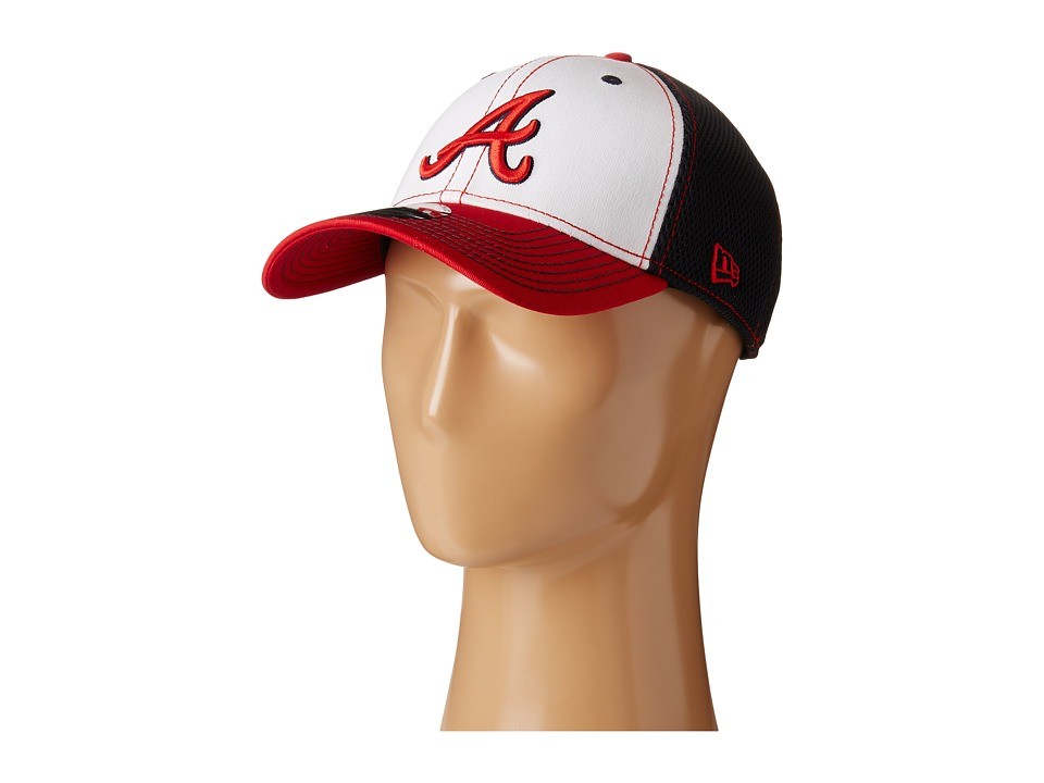New Era - White Front Neo Atlanta Braves (Navy) Caps