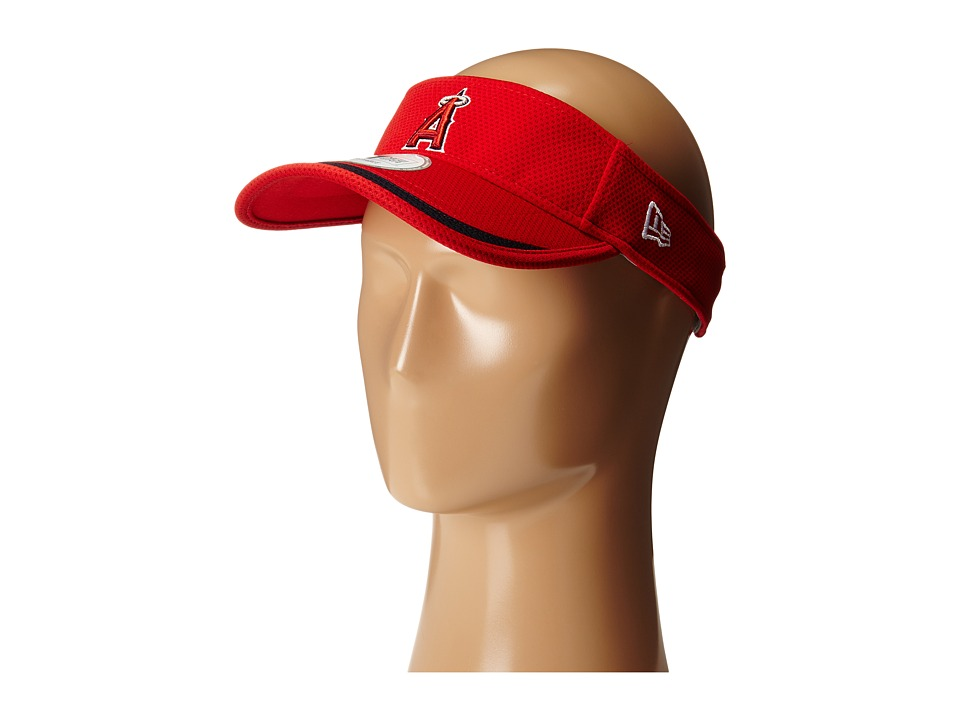 New Era - Visor Lined Anaheim Angels (Red) Casual Visor