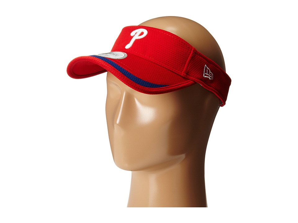 New Era - Visor Lined Philadelphia Phillies (Red) Casual Visor