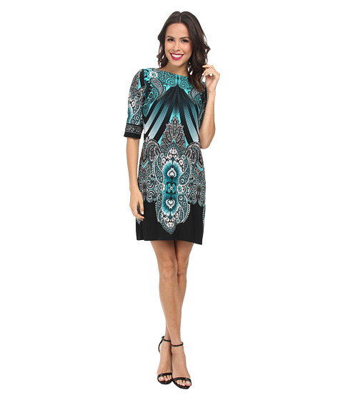 rsvp - Mirror Printed Sheath Dress (Teal/Black) Women