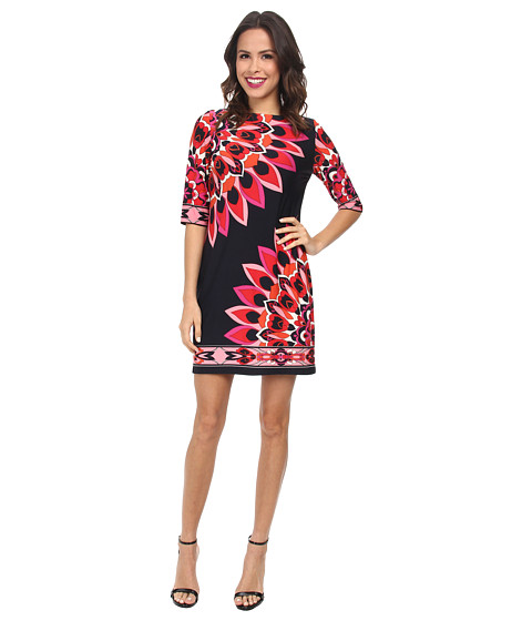rsvp - Whimsical Flower Dress (Navy/Pink) Women's Dress
