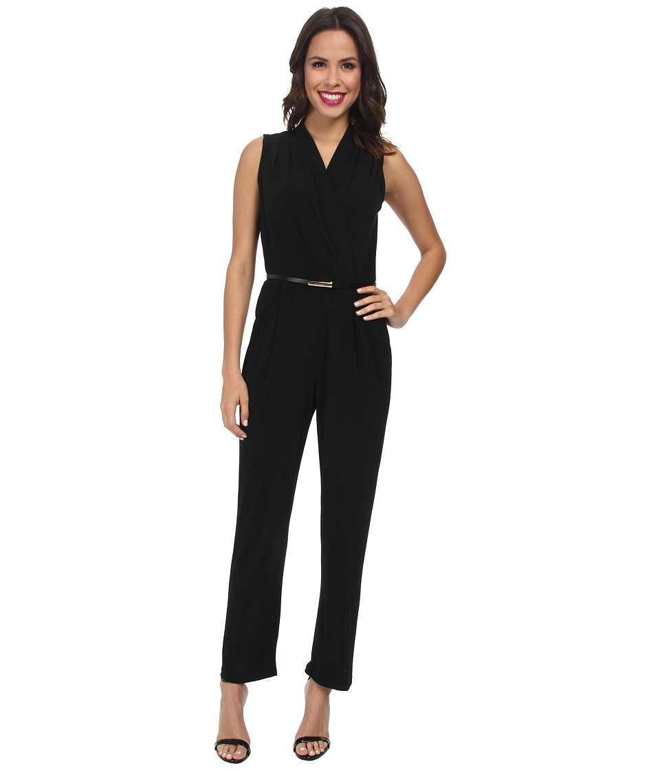 rsvp - Belted Jump Suit (Black) Women's Jumpsuit & Rompers One Piece
