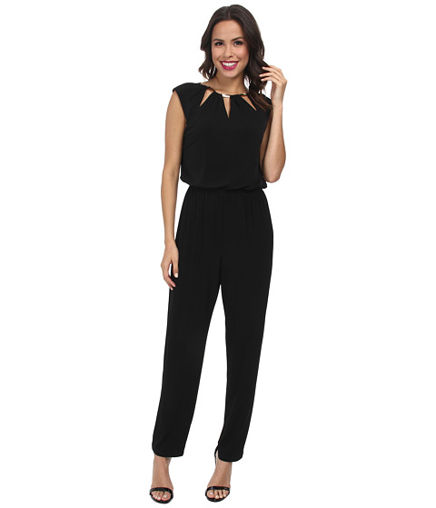 rsvp - Embellished Blouson Jump Suit (Black) Women's Jumpsuit & Rompers One Piece