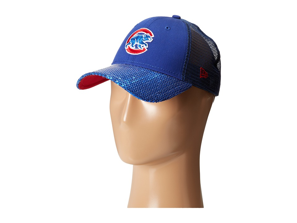 New Era - Sequin Vize Chicago Cubs Team (Medium Blue) Caps