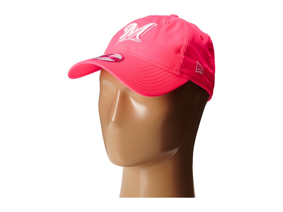 New Era - Fashion Essentials 920 Milwaukee Brewers (Bright Pink) Caps