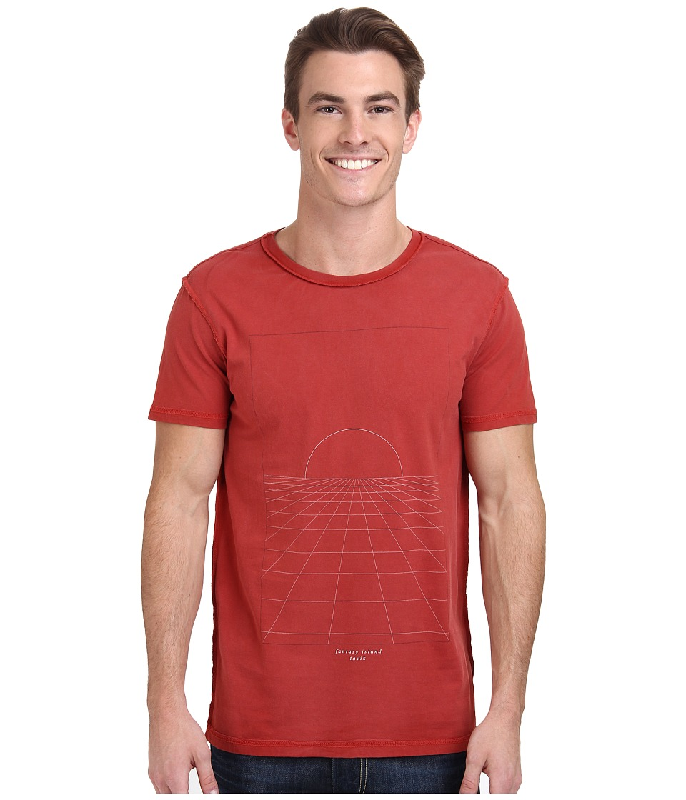 Tavik - Grid Knit Printable Tee (Canyon) Men's T Shirt