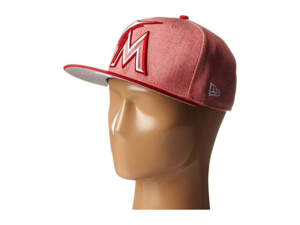 New Era - Fresh Snap Miami Marlins (Light/Pastel Red) Caps