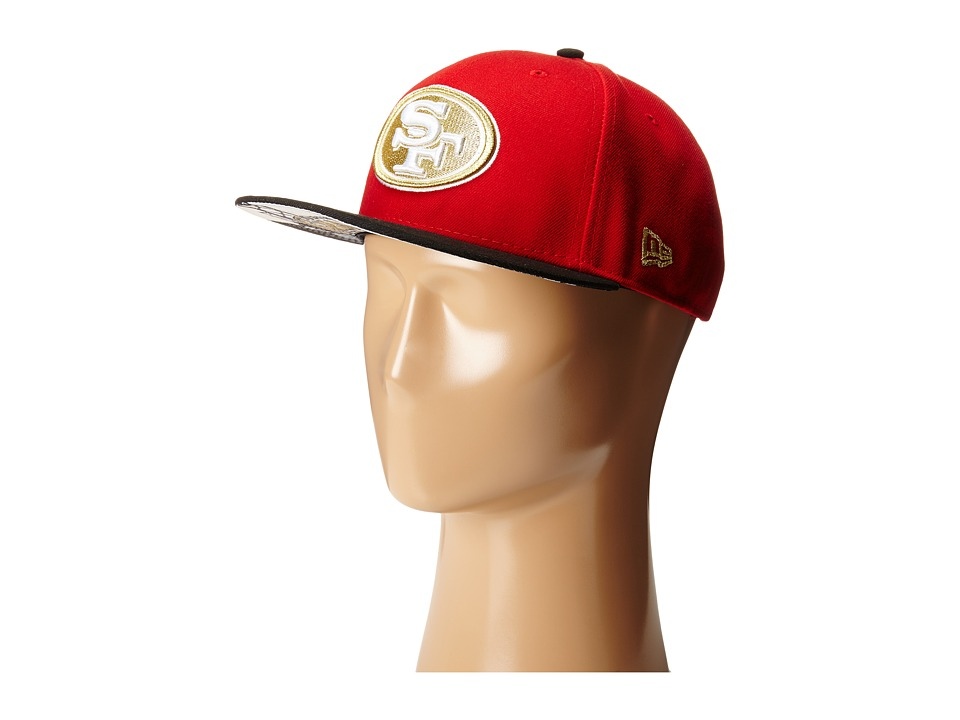 New Era - Team Hasher San Francisco 49ers (Red) Caps