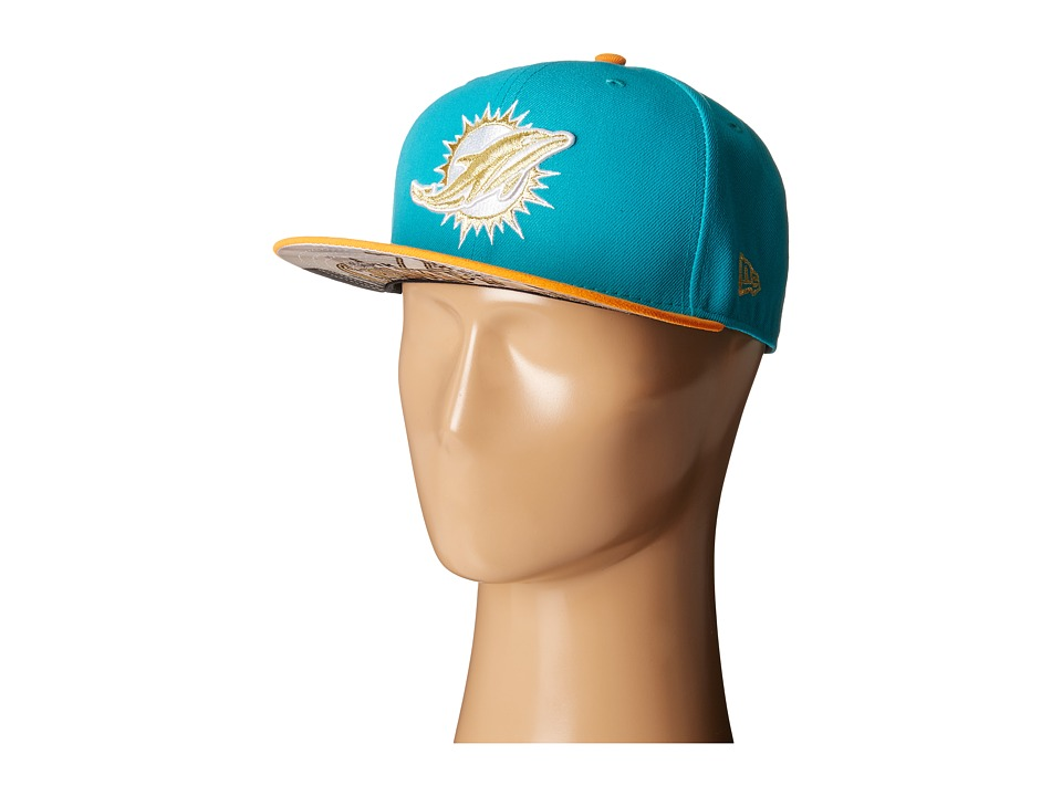 New Era - Team Hasher Miami Dolphins (Turquoise/Aqua) Caps