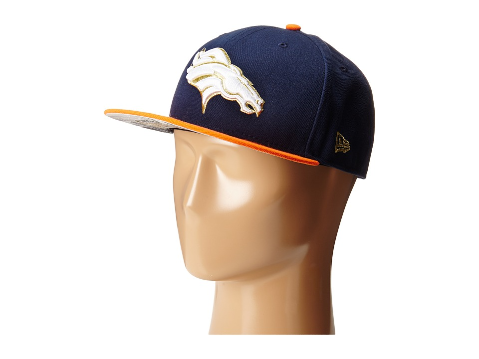 New Era - Team Hasher Denver Broncos (Navy) Caps