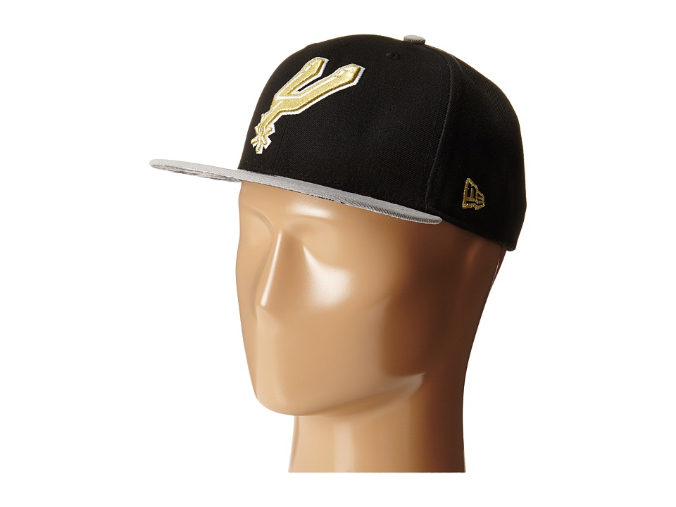 New Era - Team Hasher San Antonio Spurs (Black) Caps