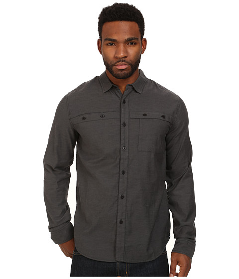Tavik - Shin L/S Woven (Black) Men's Long Sleeve Button Up