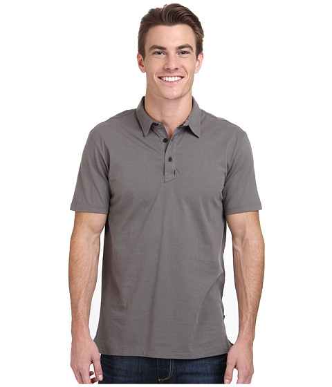 Tavik - Classic Polo Knit (Grey) Men's Clothing