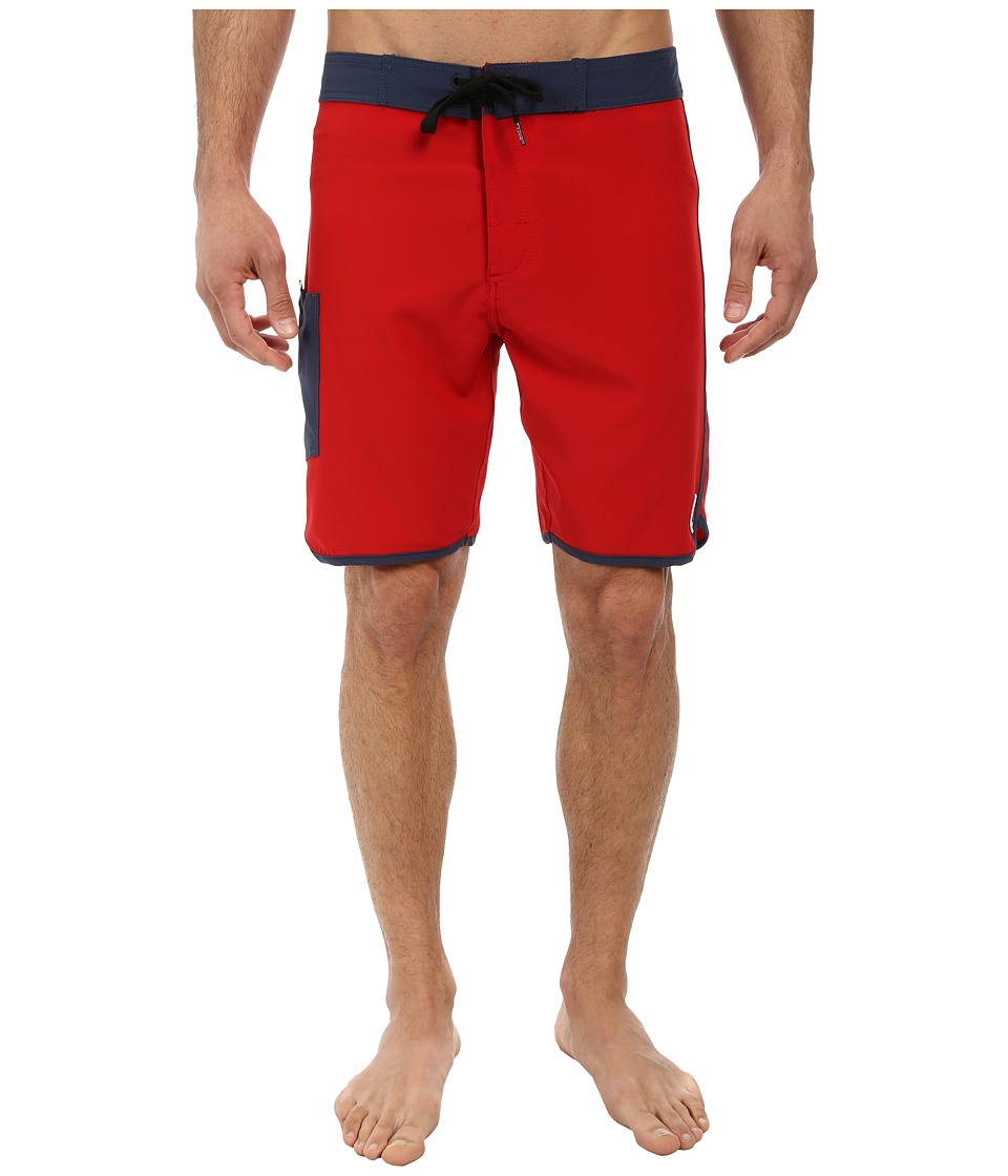 Tavik - Stash Boardshort (Red) Men's Swimwear