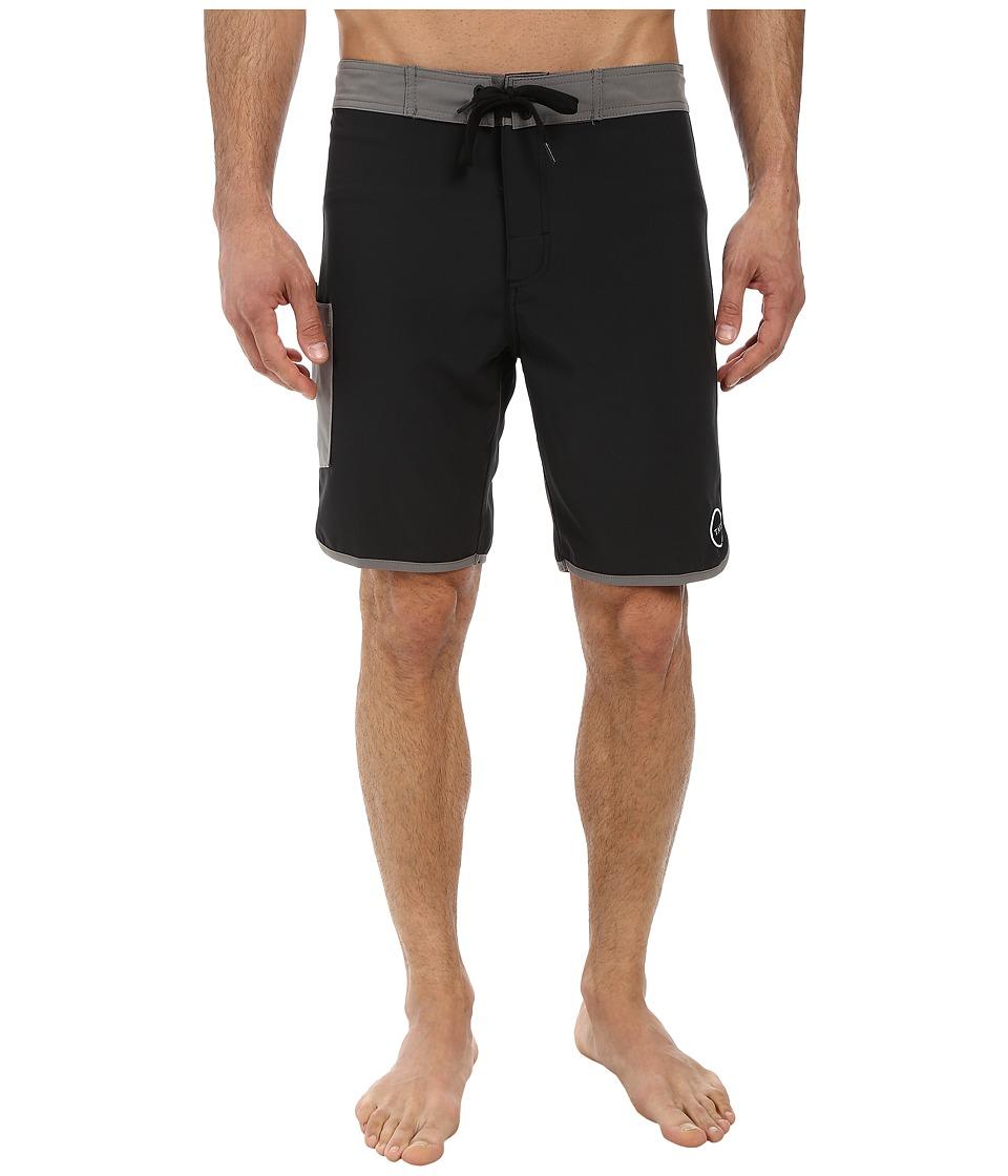 Tavik - Stash Boardshort (Black) Men's Swimwear