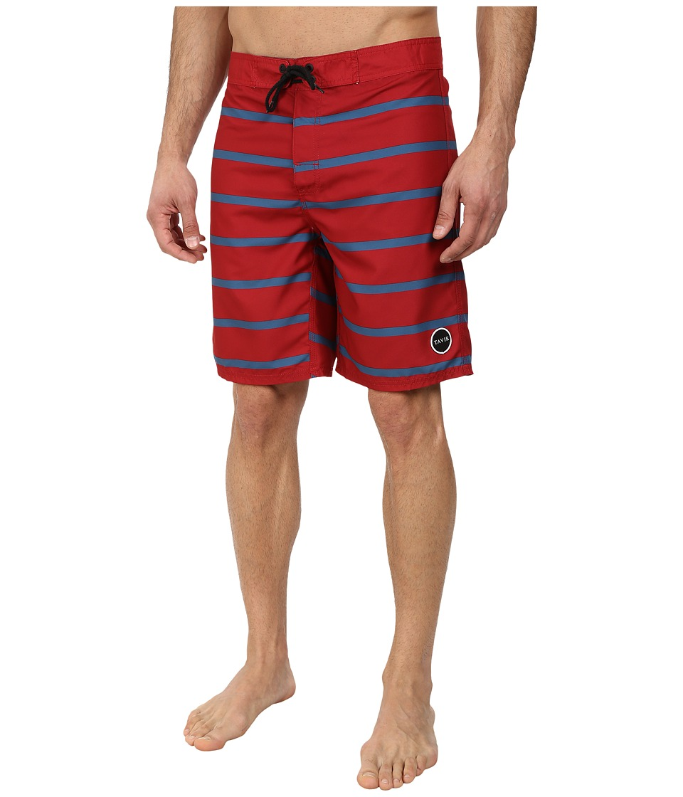 Tavik - Capital Boardshort (Red) Men's Swimwear