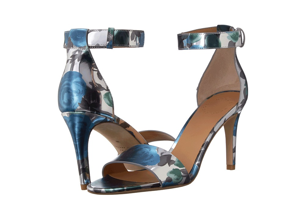 Marc by Marc Jacobs Jerrie Rose Heeled Sandal (Blue Sky Multi) Women