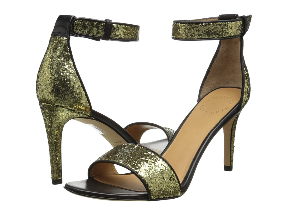 Marc by Marc Jacobs - Clean Sexy Heeled Sandal (Black/Gold) Women
