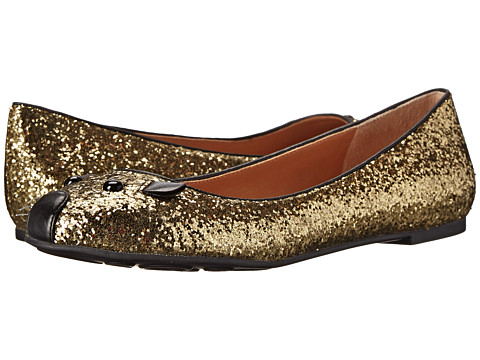 Marc by Marc Jacobs - Mouse Ballerina (Black/Gold) Women
