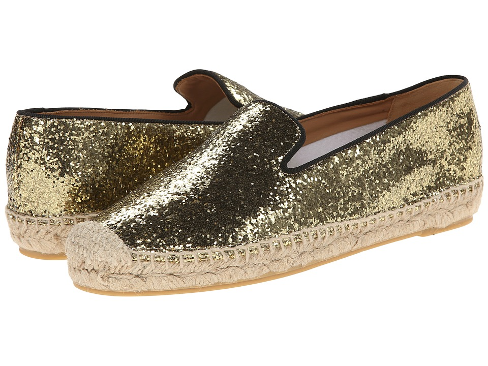 Marc by Marc Jacobs Space Glitter Espadrilles (Black/Gold) Women