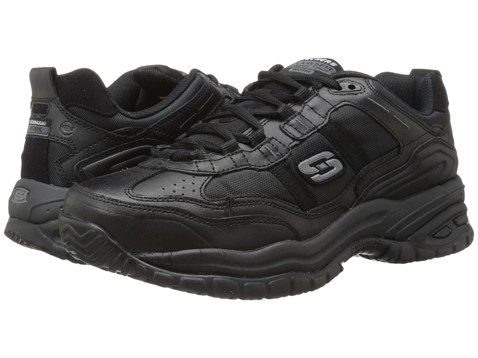 SKECHERS Work - Soft Stride (Black) Men's Industrial Shoes