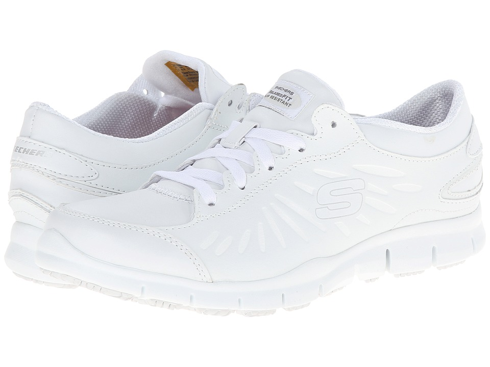 SKECHERS Work - Eldred Dewey (White) Women's Industrial Shoes