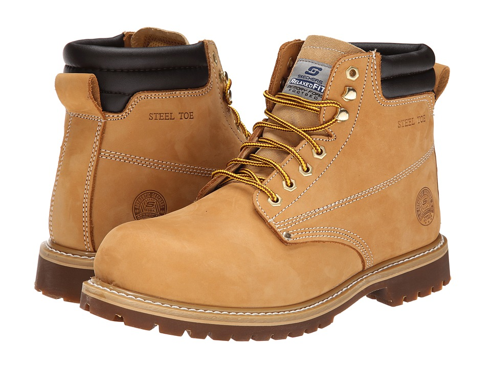 SKECHERS Work - Foreman-Concore ST (Wheat) Men's Work Lace-up Boots