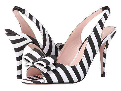 Kate Spade New York - Celeste (Black/White Stripe Grosgrain) Women