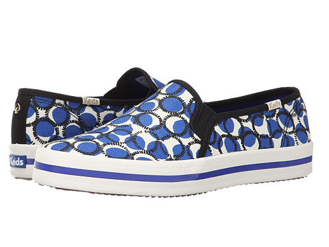 Kate Spade New York - Decker (Surf The Web Blue Dot Print Canvas) Women's Shoes