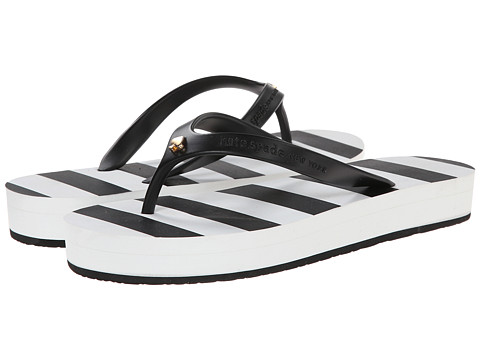 Kate Spade New York - Fanlow (Black Rubber/Black Stripe Print Eva) Women's Shoes