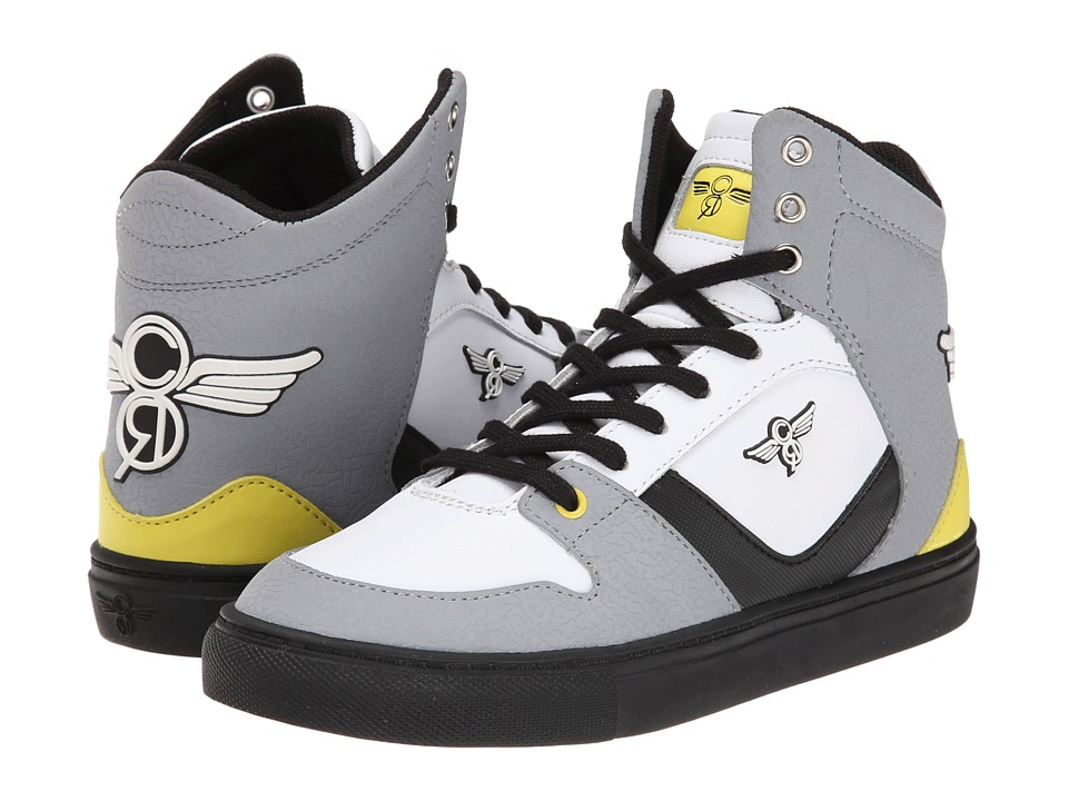 Creative Recreation Kids - Nostra (Toddler/Little Kid) (Black/White/Yellow) Boys Shoes
