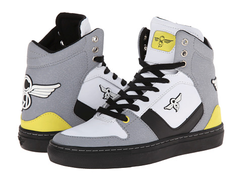 Creative Recreation Kids - Nostra (Big Kid) (Black/White/Yellow) Boys Shoes