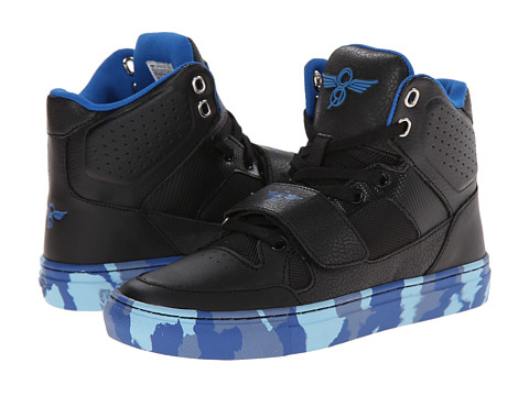 Creative Recreation Kids - Cota (Big Kid) (Black/Blue/Marble) Boys Shoes